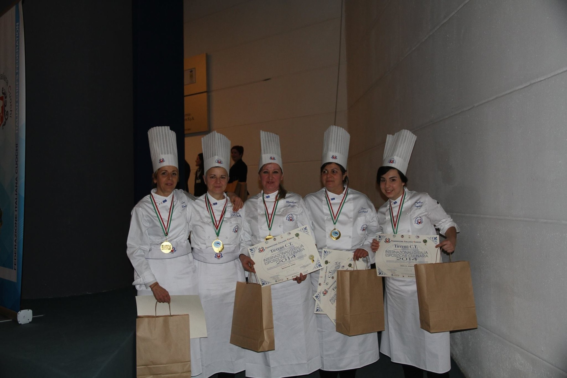 Enrica Romani is part of the women's team of Associazione Cuochi Arezzo that win gold medal at the International Italian Culinary Expo TIRRENO C.T.